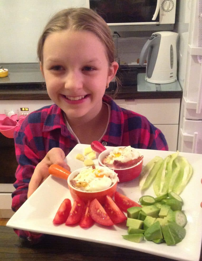 Schinken & Ei Brioche ham-egg brioche low carb kids friendly instruction video