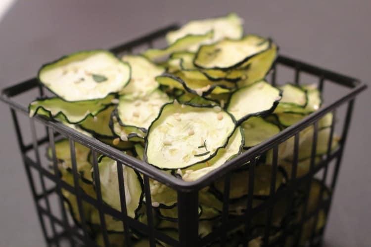 Zucchini Chips Dehydriert