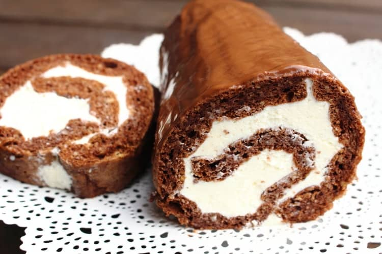 Low Carb Chocolate Roulade