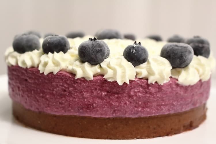 wild blueberries Keto Cheesecake