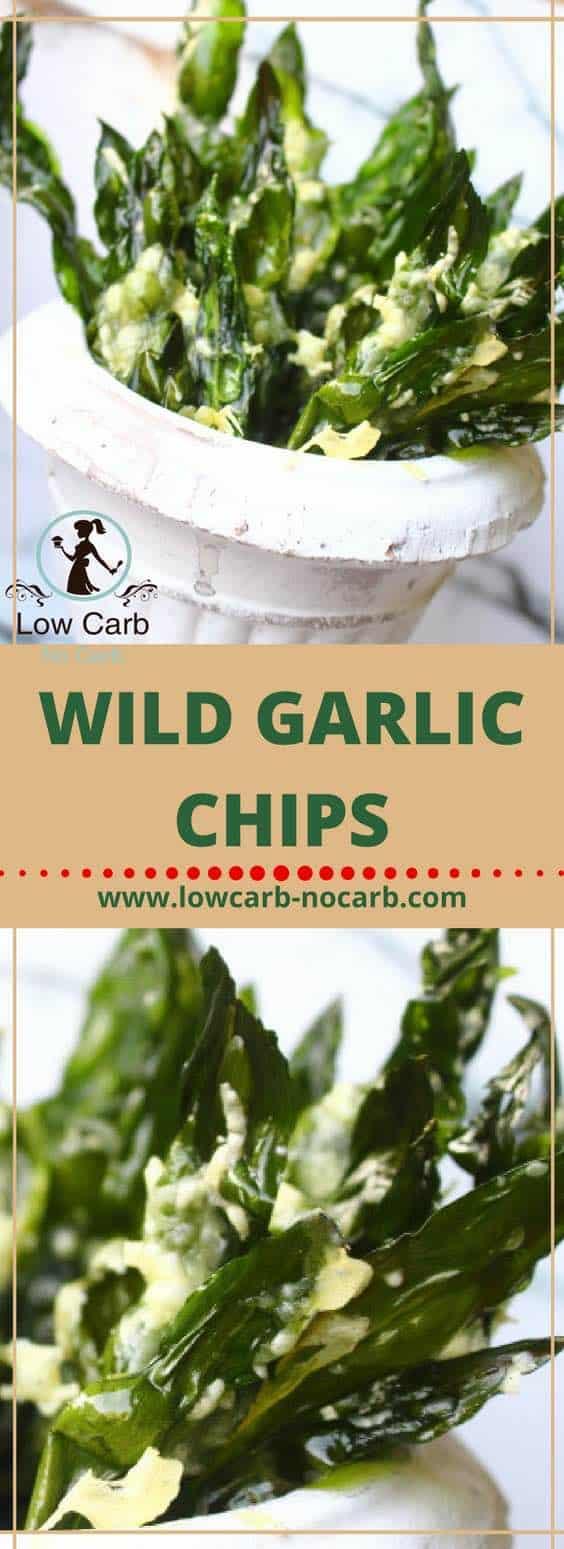 Wild Garlic Chips #wildgarlic #chips #ramp #lowcarb #keto #paleo #healthyfood #fitfood #recipeblog #springfood