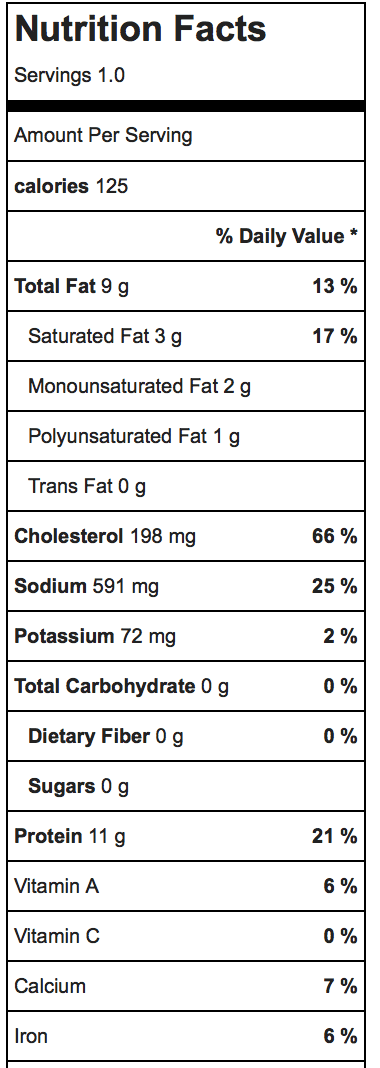 Ei Wolke Nutrition Facts