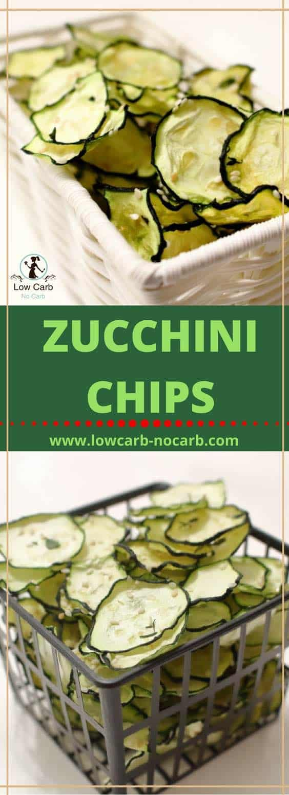 Zucchini chips dehydrated