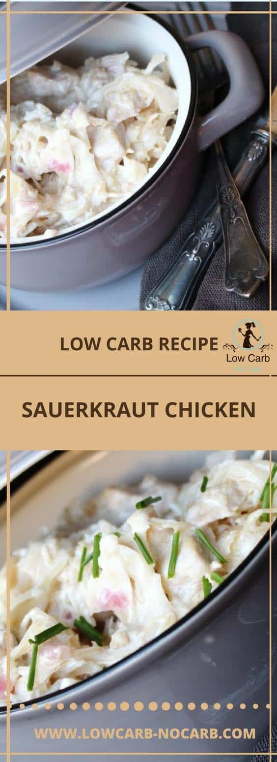 Low Carb Sauerkraut Chicken #lowcarb #nocarb #keto #paleo #sauerkraut #chicken #healthyfood #ketokids #videorecipe #foodblog