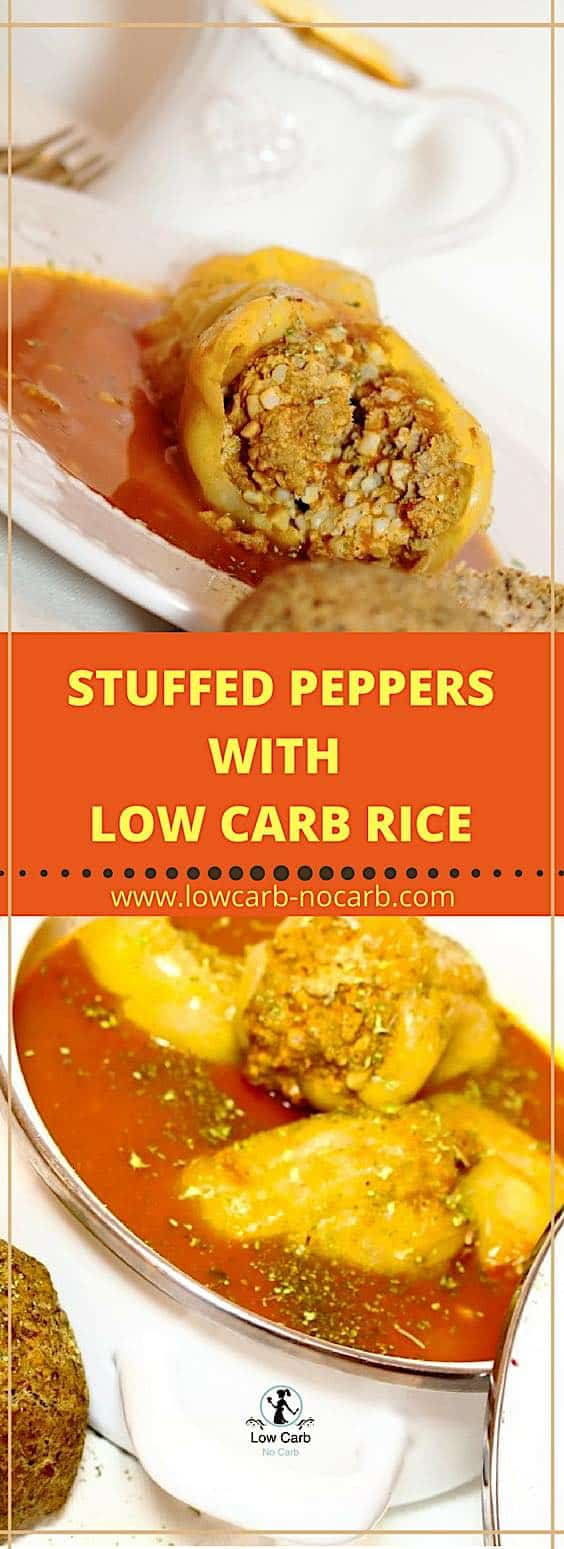 Stuffed Peppers With Low Carb Rice #stuffed #peppers #lowcarb #shirataki #kajnok #keto