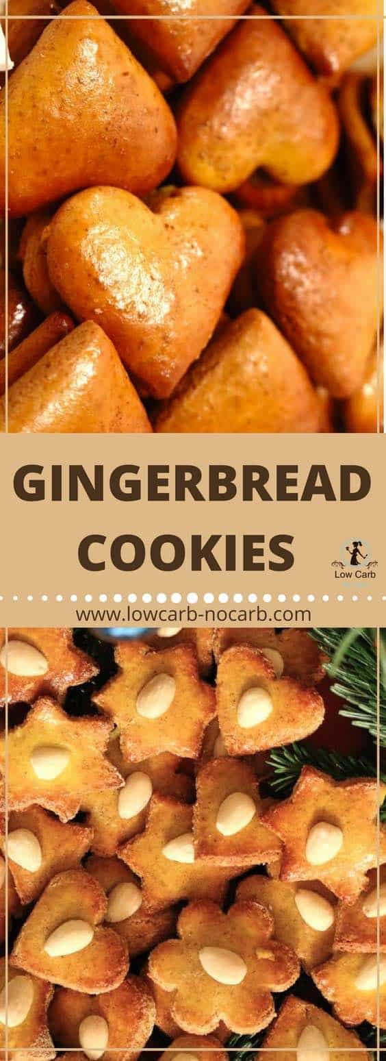 Low Carb Gingerbread Cookies #lowcarb #keto #paleo #xmas #gingerbread #cookies #holidays #healthyfood #fitfood