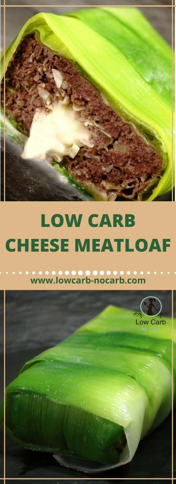 Low Carb Cheese Meatloaf #lowcarb #cheese #meatloaf #mozarella #keto #paleo #ketokids #fitfood #diabets #leeks