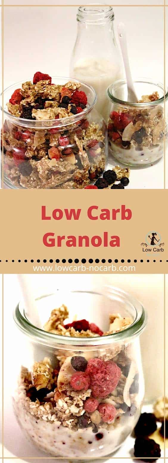 Low Carb Granola #lowcarb #granola #keto #paleo #ketokids #healthyfood #recipe #fitfood #foodblog #recipeblog