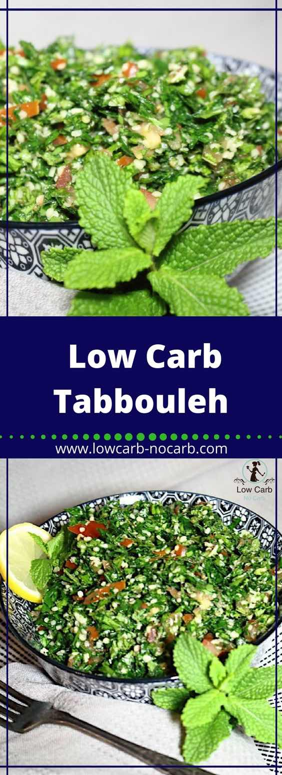 Low Carb Tabouleh Salad #lowcarb #keto #tabouleh #salad #ketokids #fitfood #parsley #hempseeds
