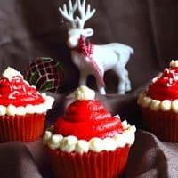 Keto Santa Hats Cupcakes