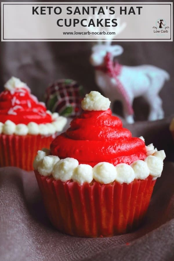 Keto Santa Hats Cupcakes Low Carb No Carb For Christmas Table