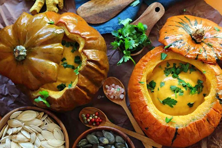 Roasted Low Carb Pumpkin Soup Recipe