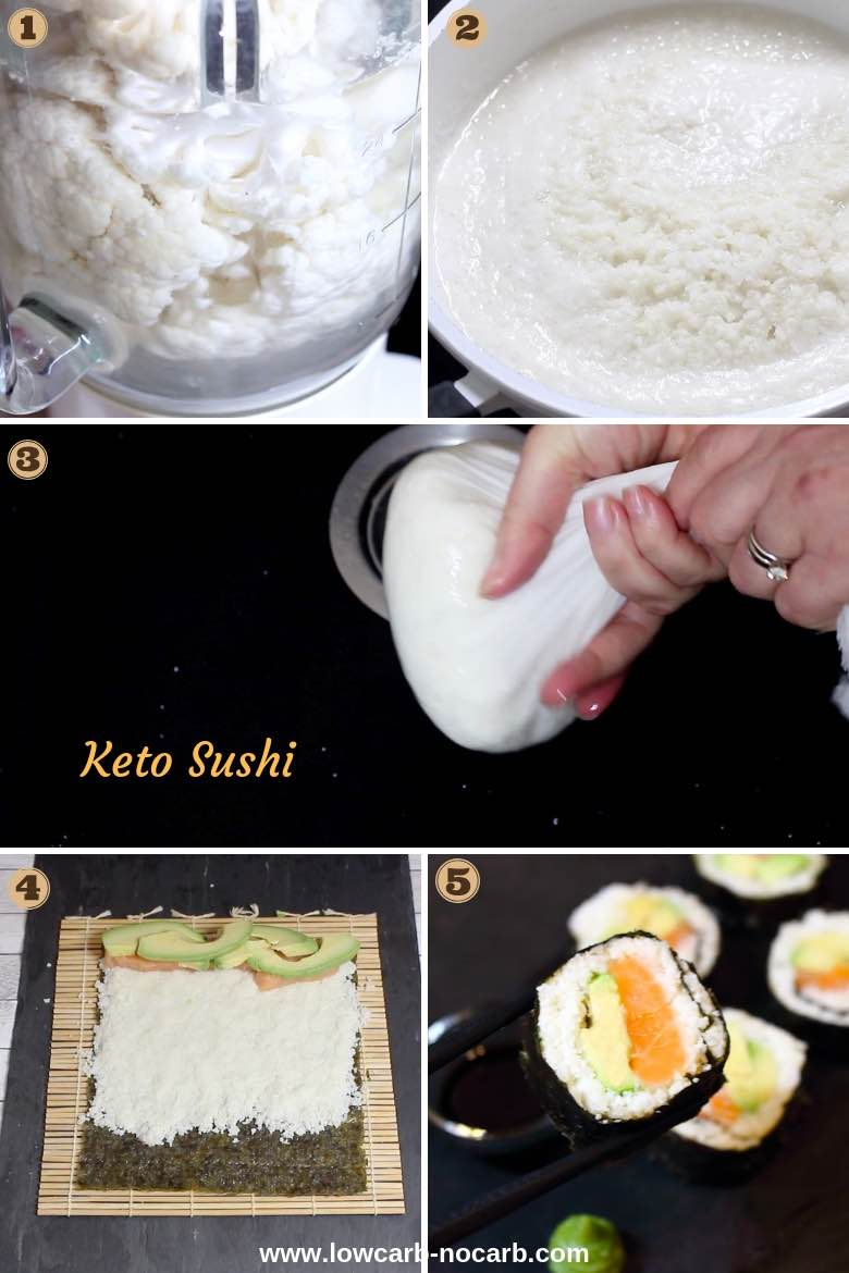 How to Collage for Keto Friendly Sushi Rolls Recipe
