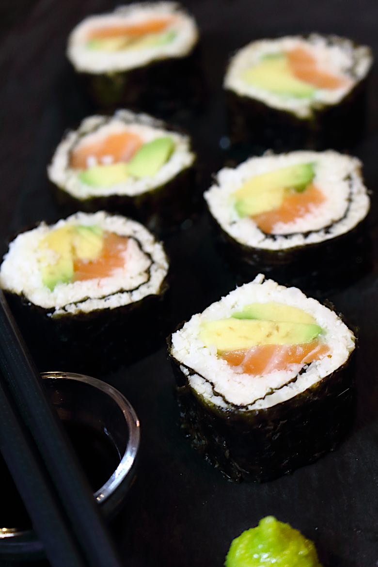 Keto Friendly Sushi Rolls Recipe close up