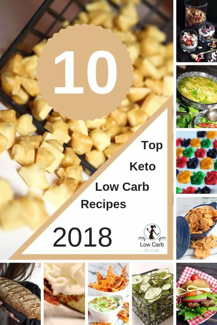 Top 10 Best Keto and Low Carb Recipes of 2018 #lowcarb #keto #top #best #recipes #2018 #diabetes #glutenfree #paleo #healthy