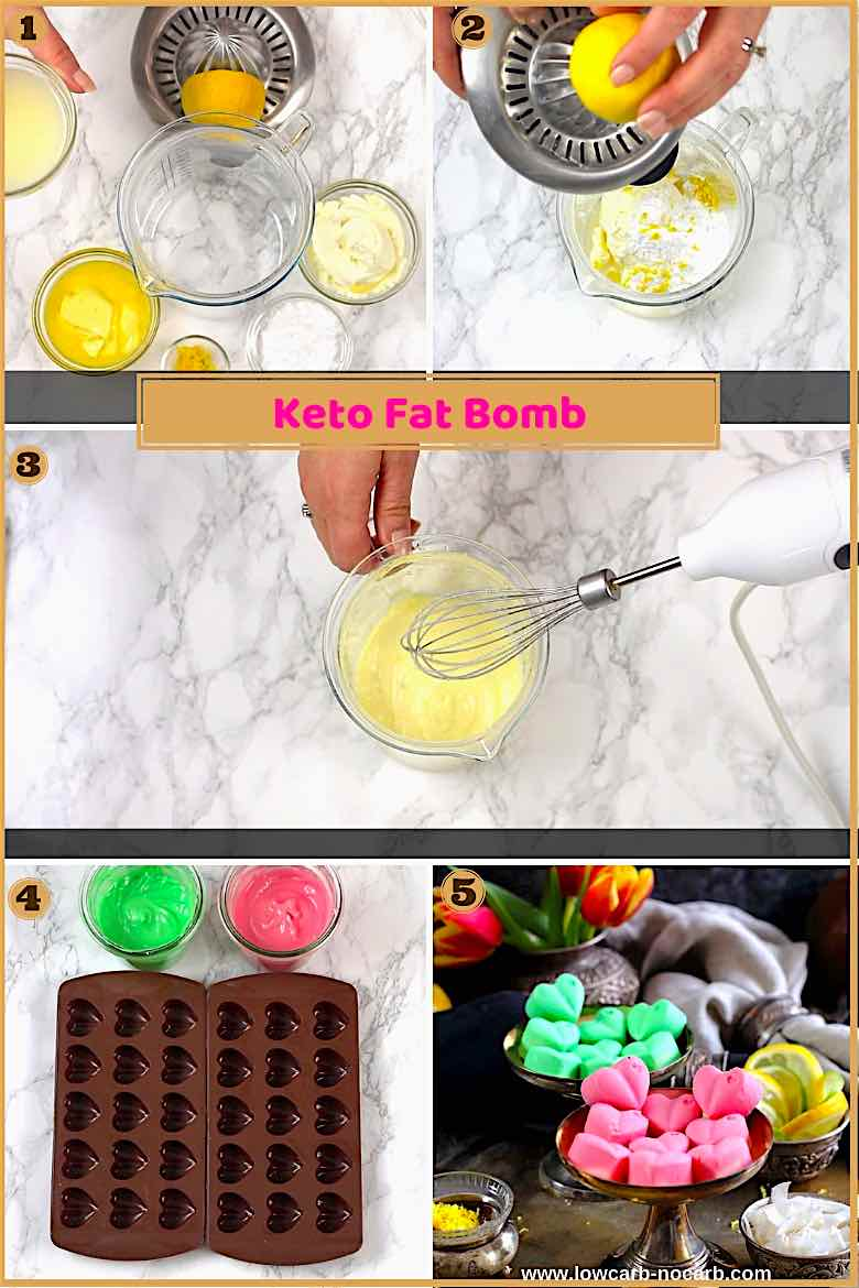 Keto Fat Bomb Cream Cheese Recipe Low Carb step by step picture instruction