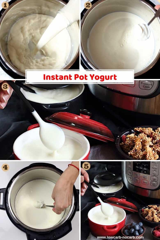 Instant Pot Grécky Jogurt postup