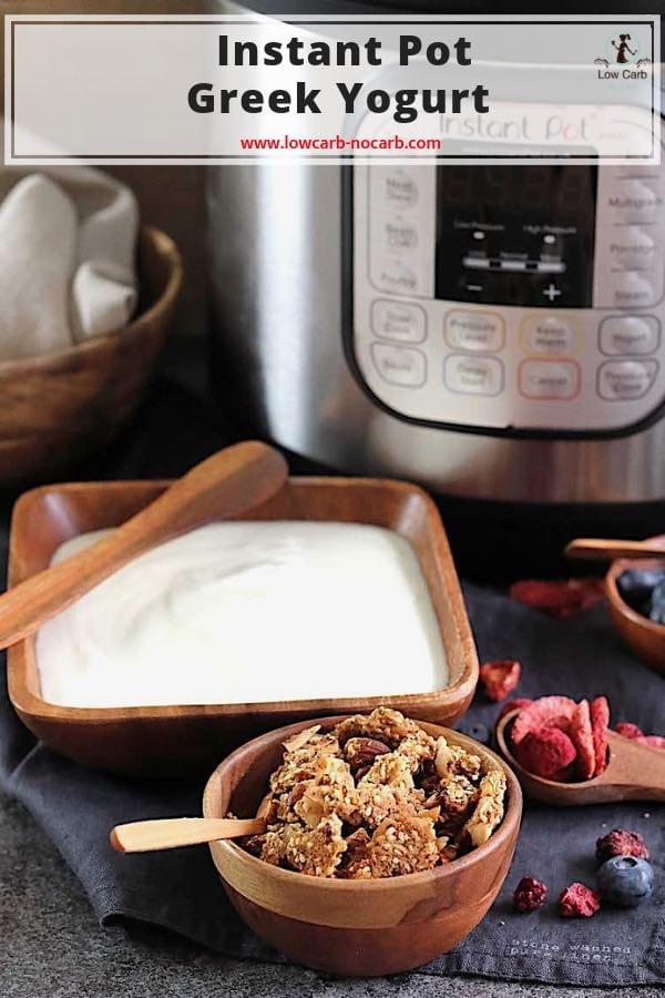 Instant Pot Grécky Jogurt #InstantPot #Grecky #jogurt #domace #diabetes #bezglutenu #nizkosacharidovy