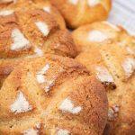 Keto Fiber Bread Rolls Recipe buns with a close up