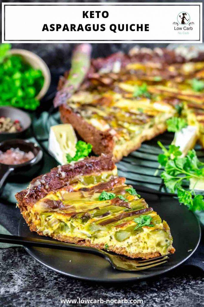 Easy Asparagus Keto Quiche pinterest image