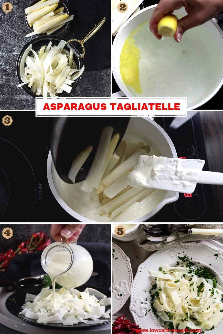 Keto Asparagus Tagliatelle Pasta - Completely Low Carb step by step photo instructions