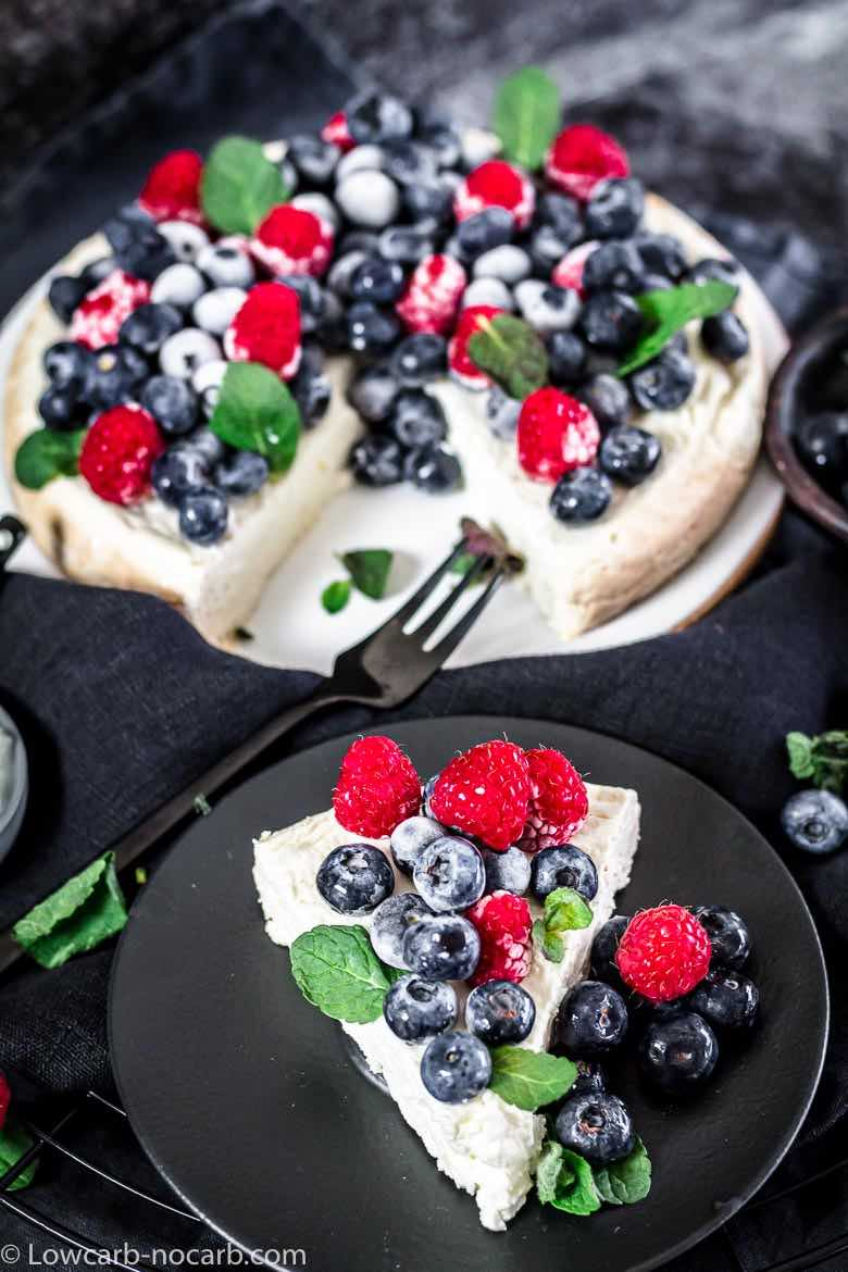 Yogurt Cheesecake piece with berries