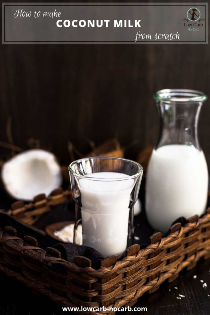 How to make Coconut Milk from scratch pin image