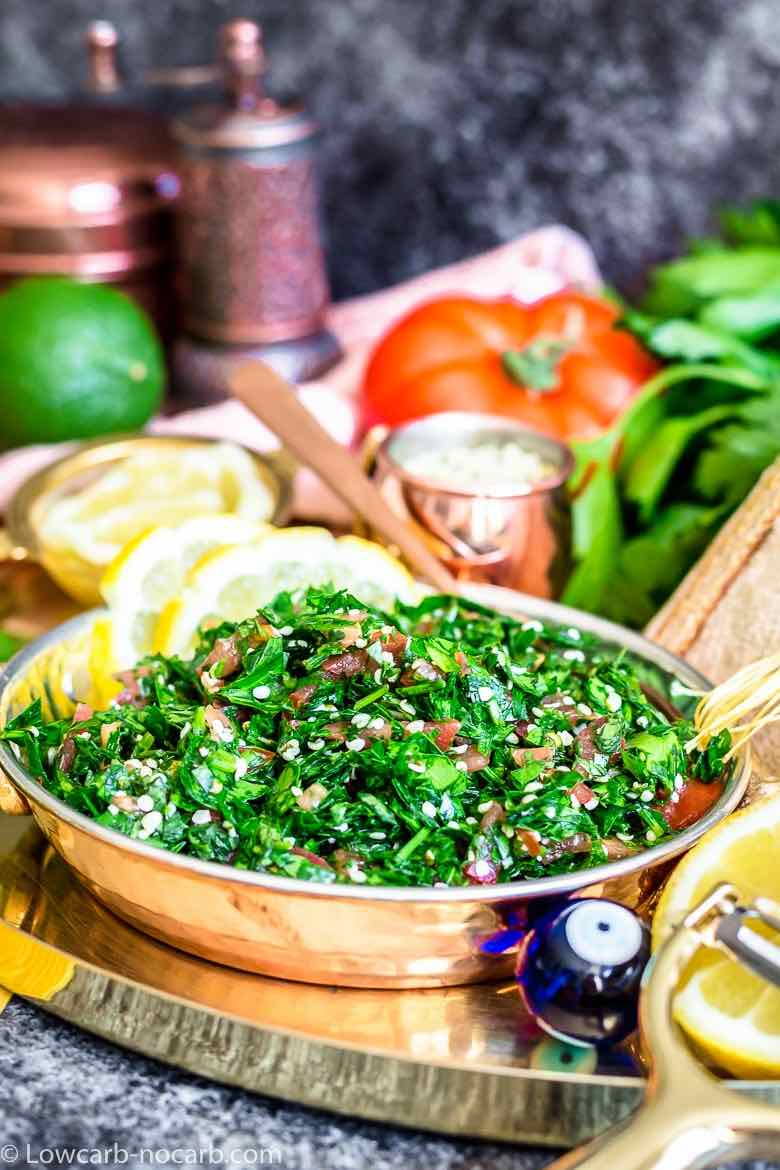 Tabouleh salad ready to eat