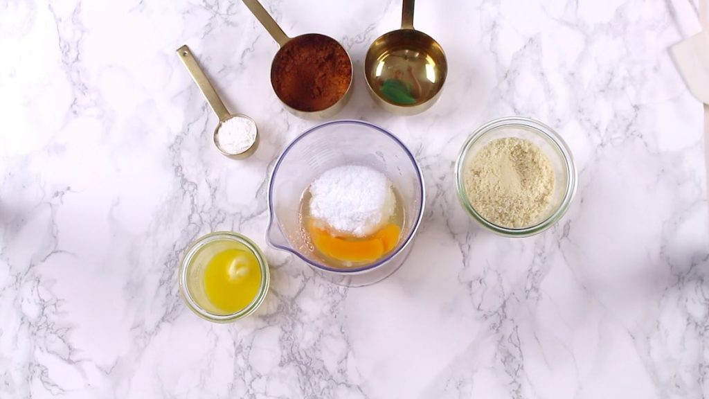 Chocolate Keto Cupcakes ingredients