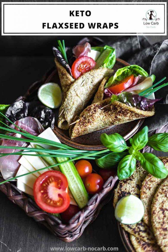 Flaxseed Keto Wraps Recipe Pin