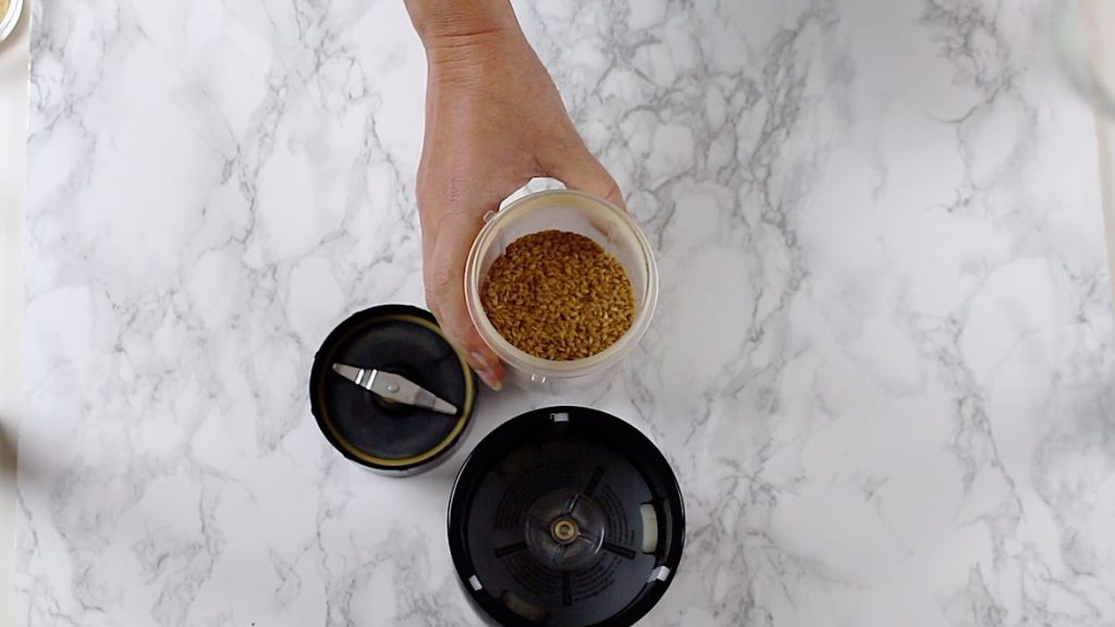 Flaxseeds in a magic bullet
