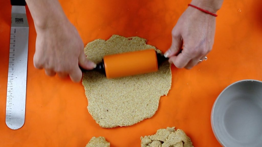rolling flaxseed wraps