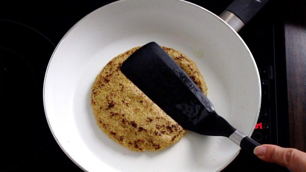 toasting flaxseed keto wraps