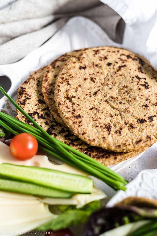 3 Flaxseed Keto flat breads