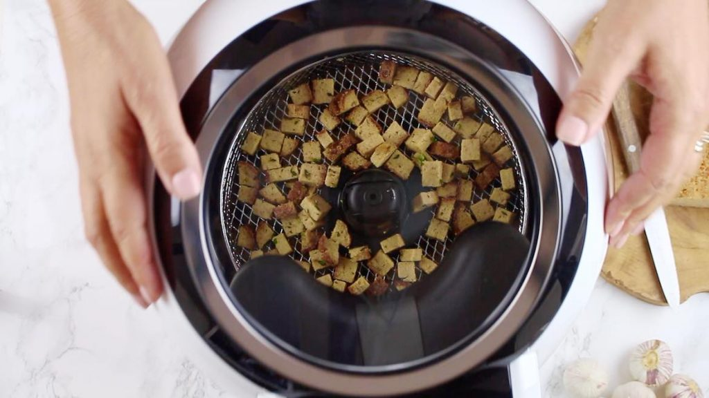 Switching in Air Fryer for Croutons to be made