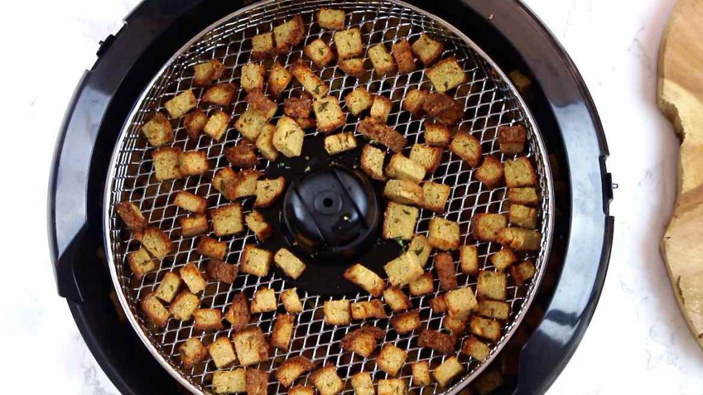 Low Carb Croutons finished in Air Fryer