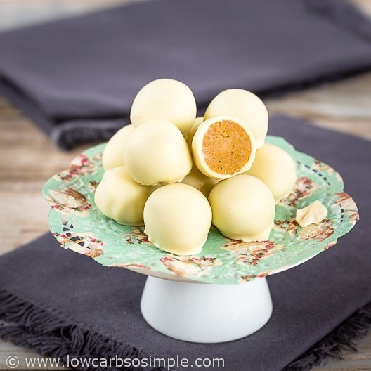 Pumpkin White Chocolate Truffles