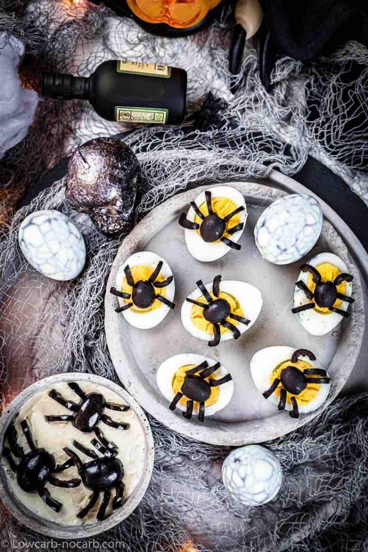 Keto Spider Web Eggs