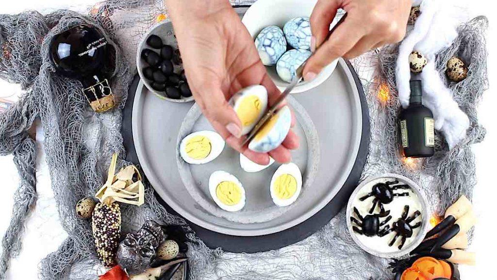 halloween hard boiled eggs