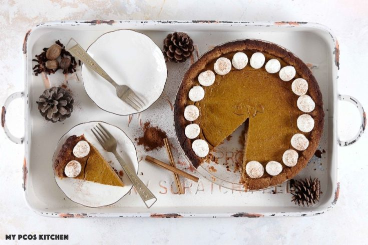 Paleo Low Carb Sugar Free Pumpkin Pie - My PCOS Kitchen