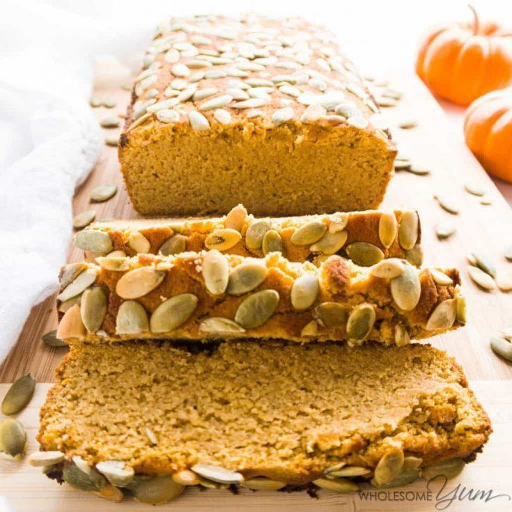 Keto Paleo Low Carb Pumpkin Bread Recipe - Quick & Easy