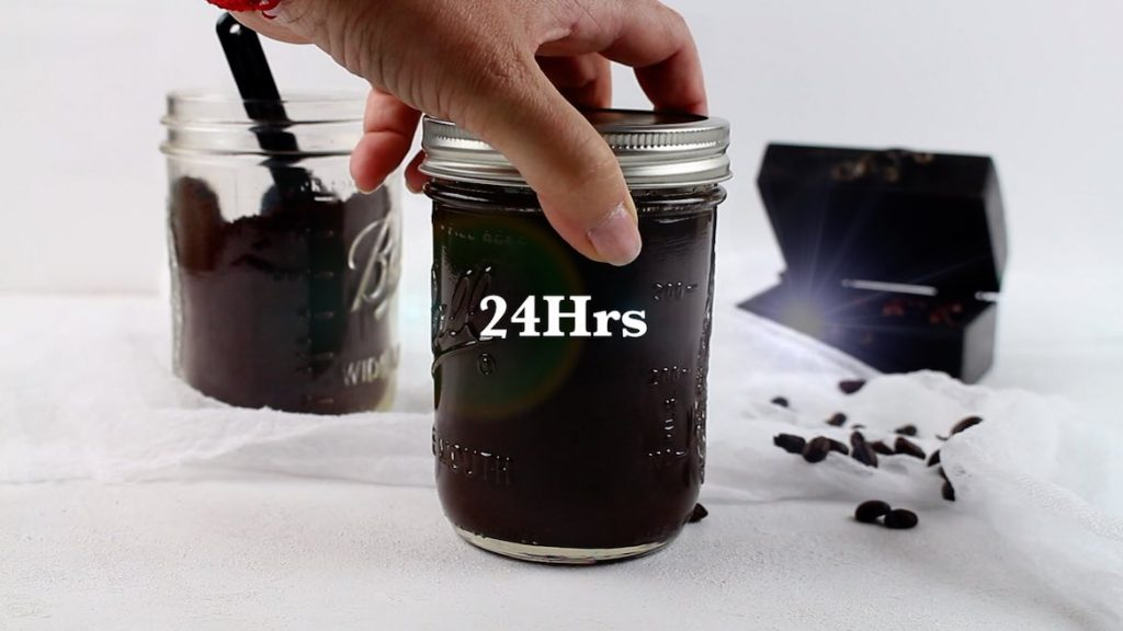 Cold coffee brewed over 24 hours