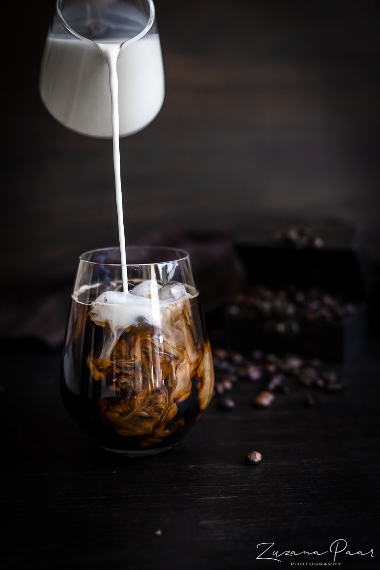 Cold Coffee brew with ice and milk