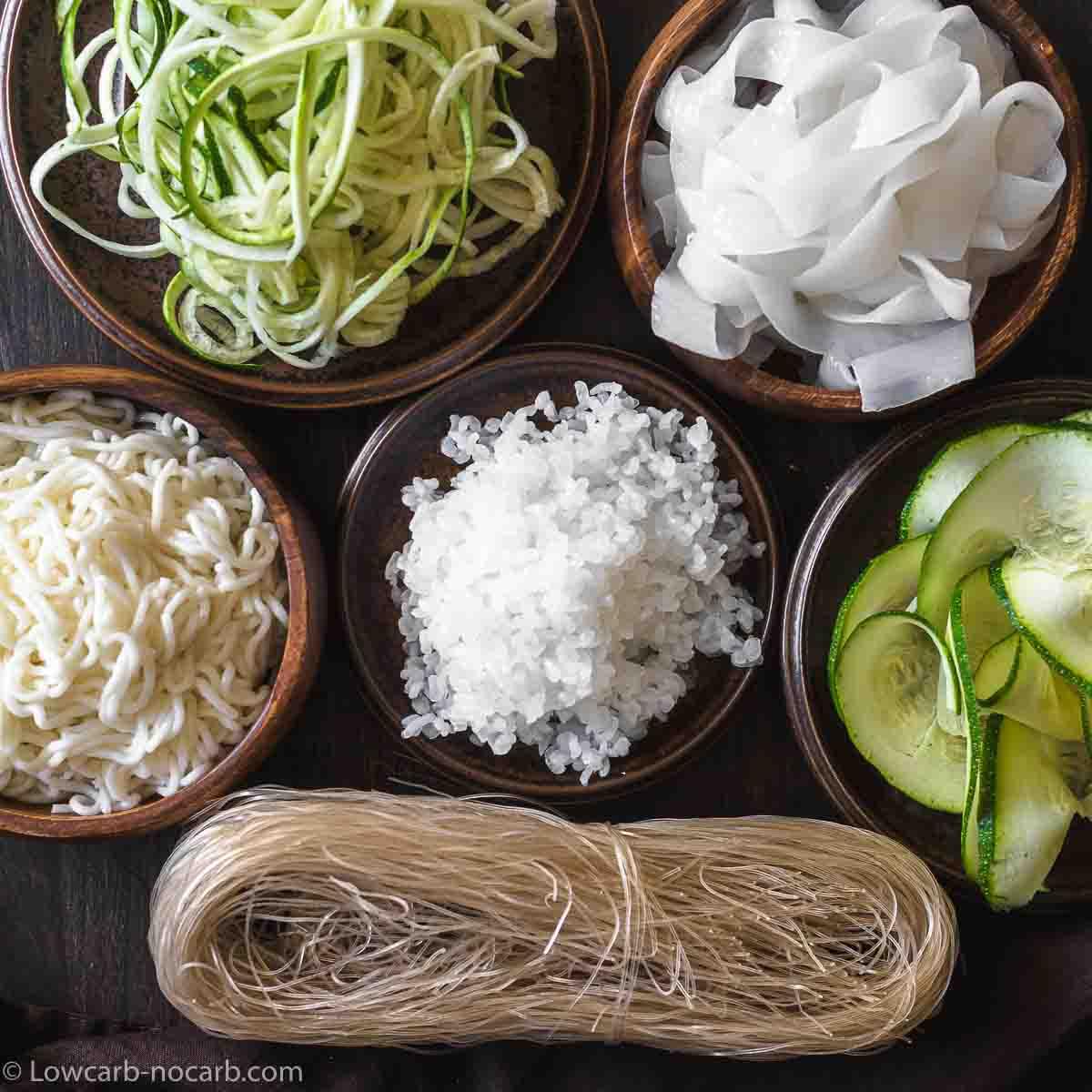 Keto and Low Carb Noodles, Pasta, Gnocchi alternatives