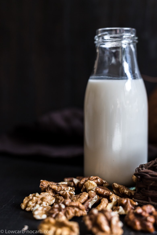 Walnut Milk in a jar