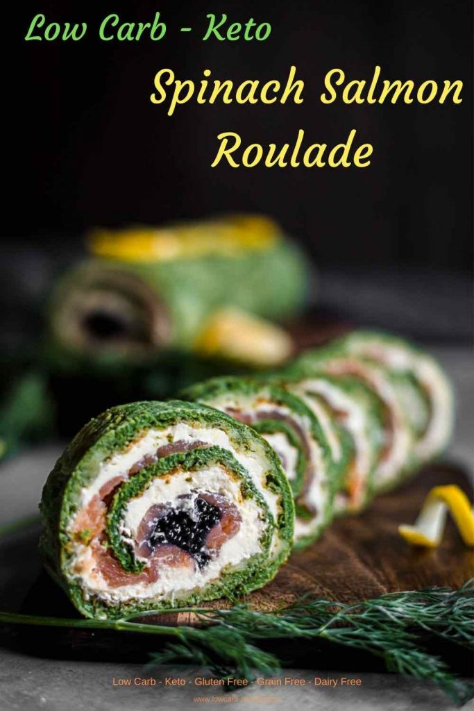 Low Carb Smoked Salmon Roulade recipe with Caviar