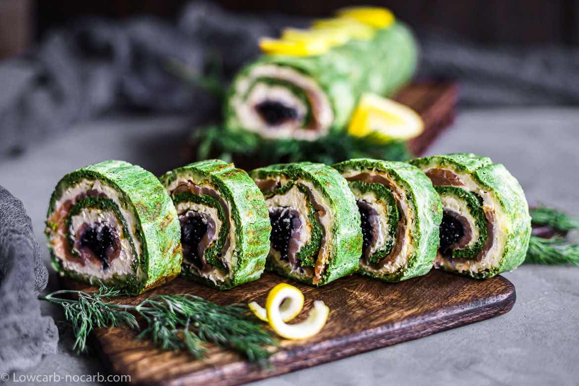 Keto Spinach Salmon Roulade Recipe
