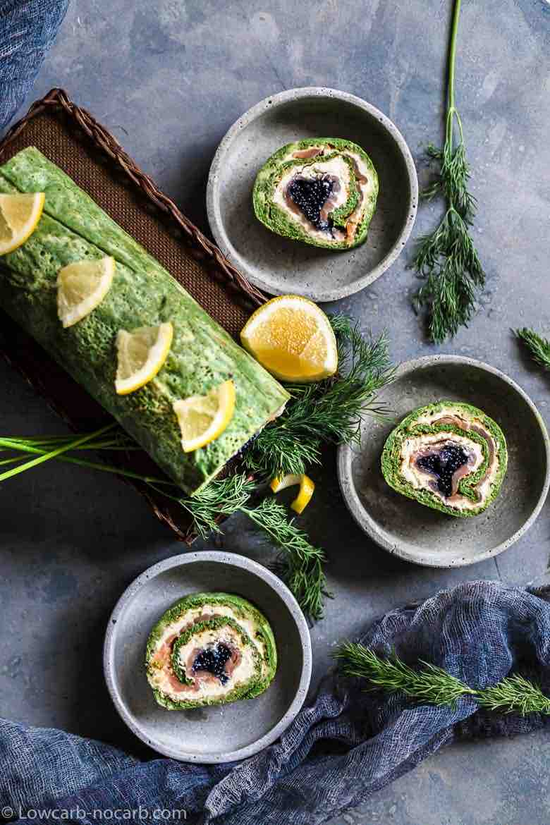 Low Carb Caviar Roll