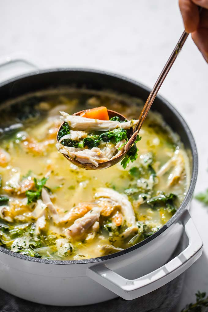 Low Carb Keto Roast Chicken Soup