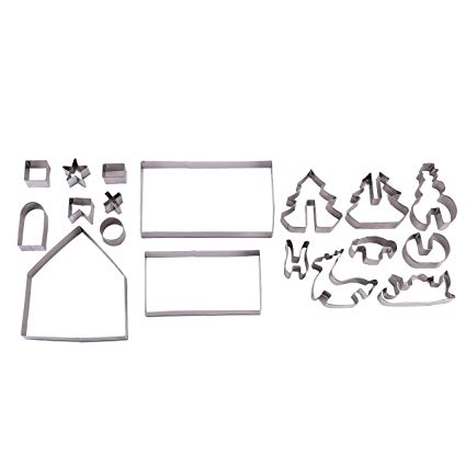 3D Christmas Scene Cookie Cutters